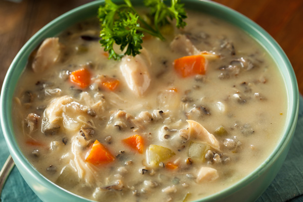 Mushroom and Brown Rice Soup