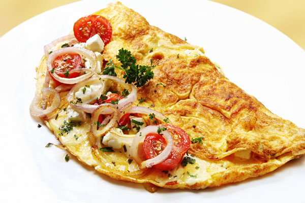 caper and onion omelette recipe