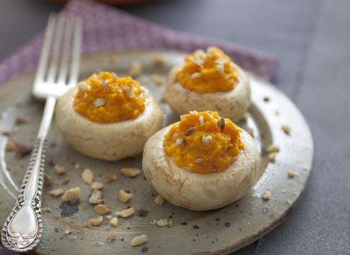 How to prepare a recipe: stuffed mushrooms, pumpkin gauze